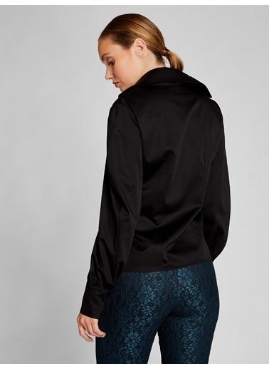 Vekem-Limited Edition Dik Yaka Geniş Manşetli Gömlek Siyah